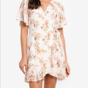 Abercrombie white floral dress
